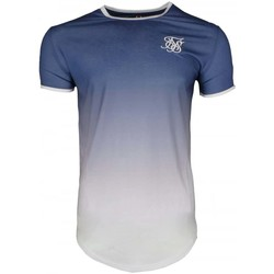Clothing Men short-sleeved t-shirts Sik Silk SS Contrast Poly Fade Gym Tee blue