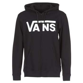 Clothing Men Sweaters Vans VANS CLASSIC ZIP HOODIE Black