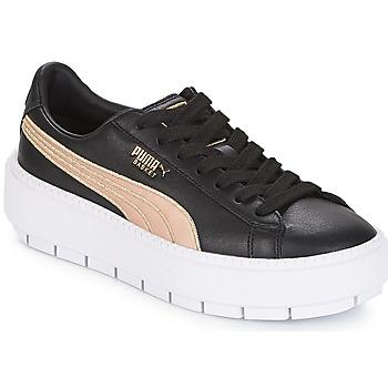 Shoes Women Low top trainers Puma WN PLATFORM TRACE BSQT.BLK  black