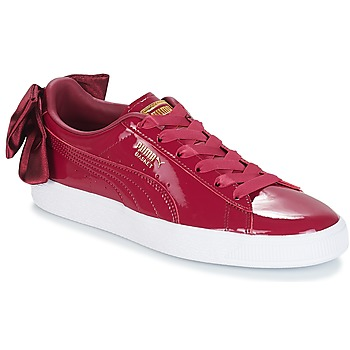 Shoes Women Low top trainers Puma WN SUEDE BOW PATENT.TIBETA Bordeaux