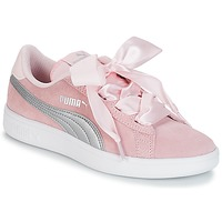 Shoes Girl Low top trainers Puma JR PUMA SMASH RIBB.PINK Pink