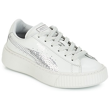 Shoes Girl Low top trainers Puma G PS B PLATFORM BLING.GRAY Granite