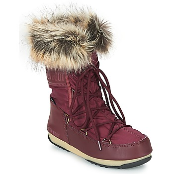 Shoes Women Snow boots Moon Boot MONACO LOW WP Bordeaux