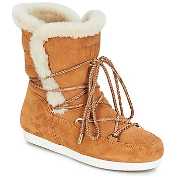 Shoes Women Snow boots Moon Boot FAR SIDE HIGH SHEARLING Cognac / White
