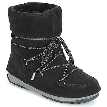 Shoes Women Snow boots Moon Boot LOW SUEDE WP Black