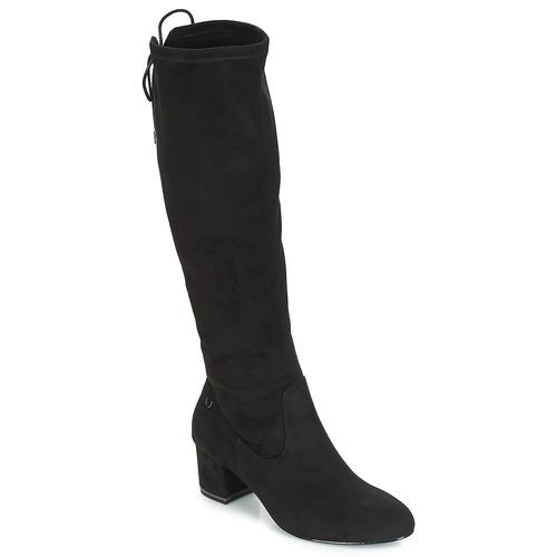Shoes Women Thigh boots Tamaris PEDAS Black