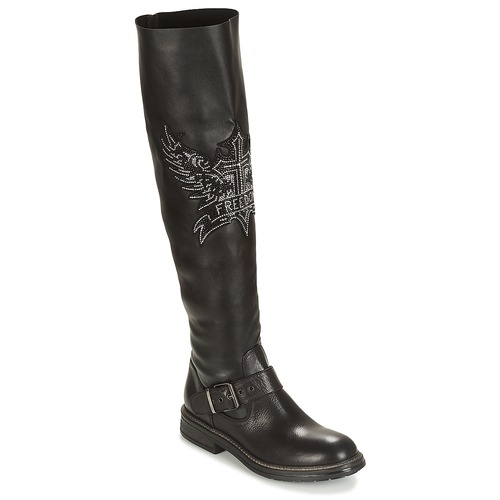 Shoes Women Thigh boots Now TRIESTE Black