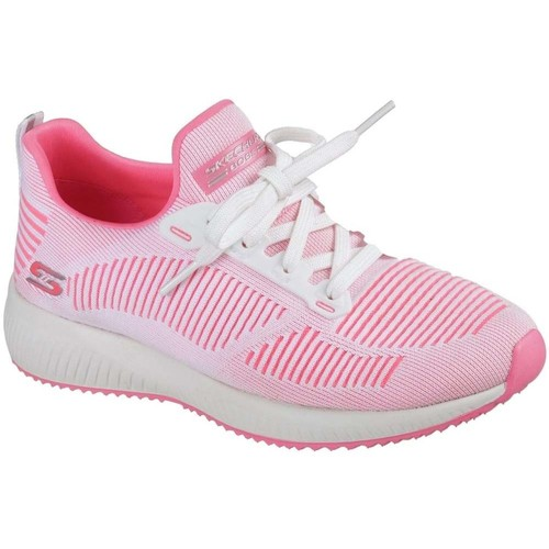 Shoes Women Low top trainers Skechers Bobs Sport Squad Twinning Womens Trainers pink