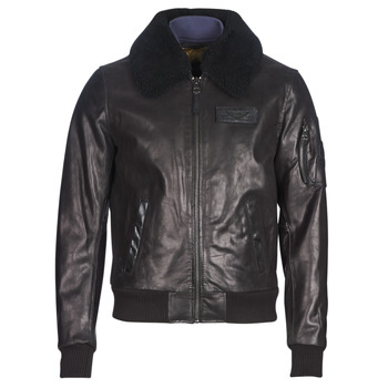 Clothing Men Leather jackets / Imitation leather Redskins COMMANDER STRIKING Black