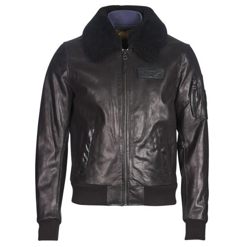 Clothing Men Leather jackets / Imitation leather Redskins COMMANDER STRIKING Black