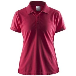 Clothing Women short-sleeved polo shirts Craft Shirt Pique Classic Red