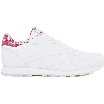 Shoes Children Low top trainers Reebok Sport Classic Leather White