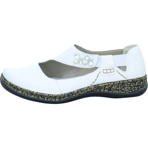 Shoes Women Flat shoes Rieker 4637080 White