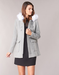 Clothing Women coats Naf Naf AZALI Grey