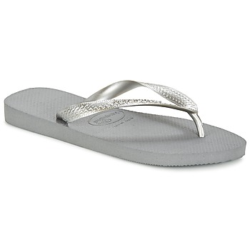 Shoes Women Flip flops Havaianas TOP METALLIC Grey / Steel