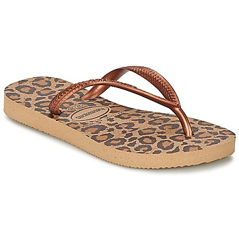 Shoes Girl Flip flops Havaianas SLIM ANIMALS Bronze