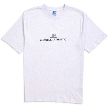 Clothing Men short-sleeved t-shirts Russell Athletic Beacons Crew Neck Tee Silver Marl Silver