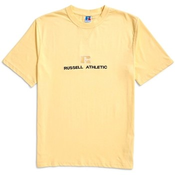 Clothing Men short-sleeved t-shirts Russell Athletic Beacons Crew Neck Tee Yellow Yellow