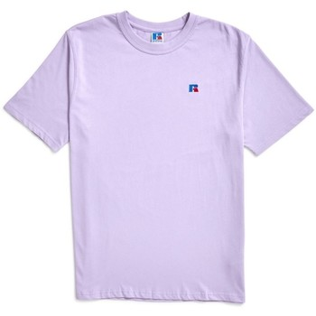 Clothing Men short-sleeved t-shirts Russell Athletic Baseliners Tee Shirt Lilac Purple