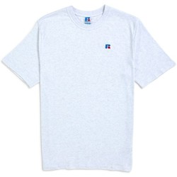 Clothing Men short-sleeved t-shirts Russell Athletic Baseliners Tee Shirt Silver Marl Silver