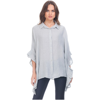 Clothing Women Shirts Laura Moretti Shirt ZAZ Grey F Grey