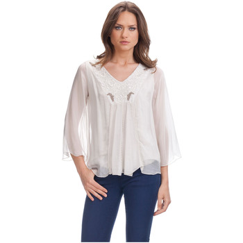 Clothing Women Tops / Blouses Laura Moretti Blouse DAUSY Beige Woman Autumn/Winter Collection Beige