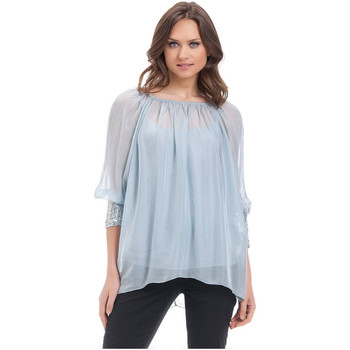 Clothing Women Tops / Blouses Laura Moretti Blouse MARLA Blue F Blue