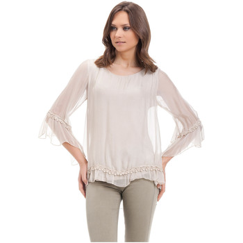 Clothing Women Tops / Blouses Laura Moretti Blouse MERYL Beige Woman Autumn/Winter Collection Beige
