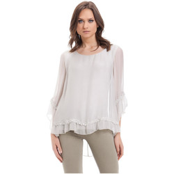 Clothing Women Tops / Blouses Laura Moretti Blouse MERYL Grey F Grey