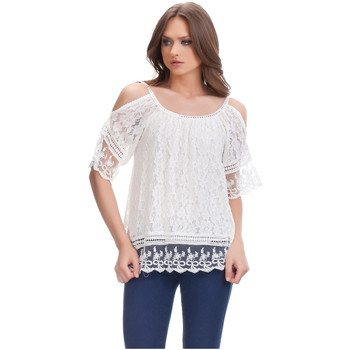 Clothing Women Tops / Blouses Laura Moretti Blouse ZACKI White F White