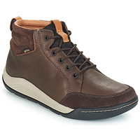 Shoes Men Hi top trainers Clarks ASHCOMBE Brown