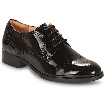 Shoes Women Derby Shoes Clarks NETLEY  black / Pat