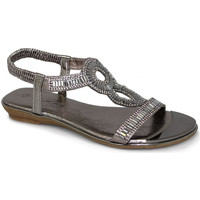 Shoes Women Sandals Lunar Ladies Samantha Glitzy Sandal Low Heel Sandal Pewter