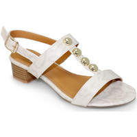 Shoes Women Sandals Lunar Ladies Charlize Block Heel Sandal Beige