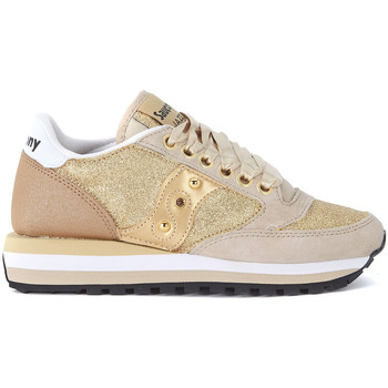 Shoes Women Low top trainers Saucony Jazz Triple beige suede and gold glitter sneaker LIMITED EDITIO Gold
