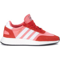 Shoes Women Low top trainers adidas Originals I-5923 pink mesh and red suede Sneaker Pink