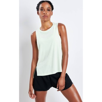 Clothing Women Tops / Sleeveless T-shirts adidas Performance ADIDAS Chill Tank Top Green
