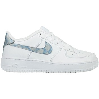 Shoes Children Low top trainers Nike Air Force 1 GS Blue-White