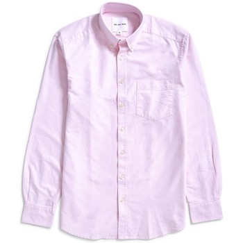 Clothing Men long-sleeved shirts The Idle Man Relaxed Modern Fit Oxford Shirt Pink Pink