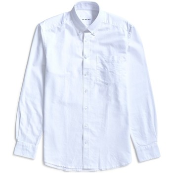 Clothing Men long-sleeved shirts The Idle Man Relaxed Modern Fit Oxford Shirt White White