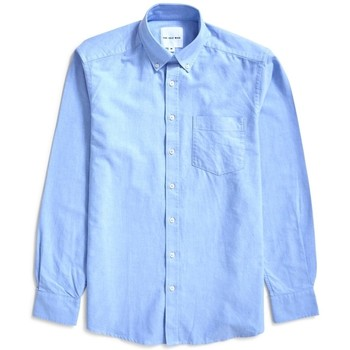 Clothing Men long-sleeved shirts The Idle Man Relaxed Modern Fit Oxford Shirt Blue Blue