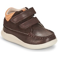 Shoes Boy Hi top trainers Clarks Cloud Tuktu Brown / Combi / Lea