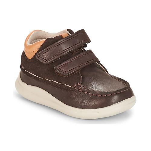 Shoes Boy Hi top trainers Clarks Cloud Tuktu Brown / Combi / Lea