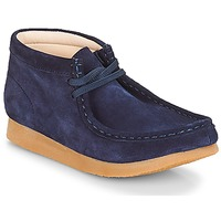 Shoes Children Mid boots Clarks Wallabee Bt Navy / Suede