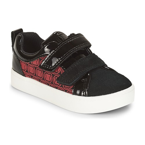 Shoes Boy Low top trainers Clarks City Hero Lo  black / Red