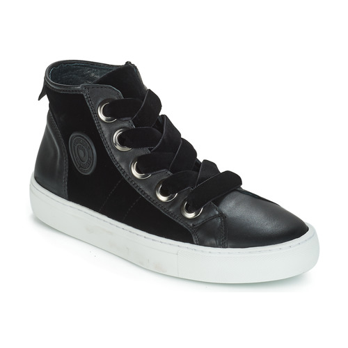 Shoes Women Hi top trainers Pataugas Zally Black