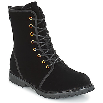Shoes Women Mid boots Esprit LANDY VELVET Black
