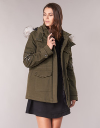 Clothing Women Parkas Ikks BLEEZ Kaki