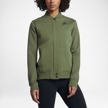 Clothing Women Jackets Nike Wmns Tech Fleece Destroyer Olive