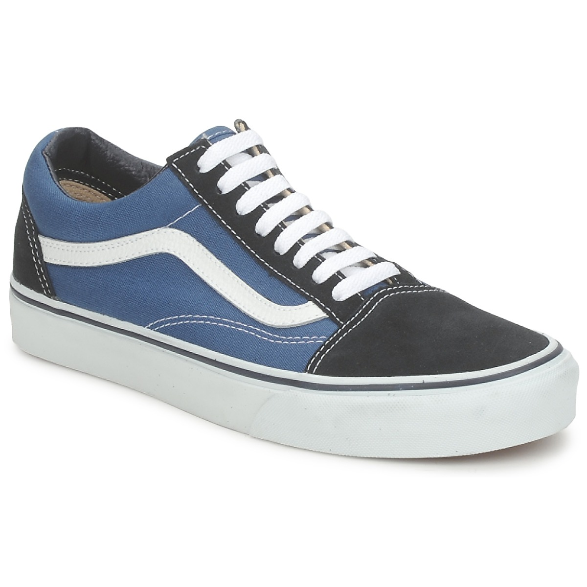 b69c209c067e Vans OLD SKOOL Blue - Free delivery with Spartoo UK ! - Shoes Low ...